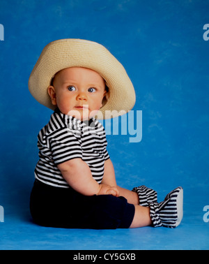 BABY BOY 6 MONTHS OLD - Stock Photo