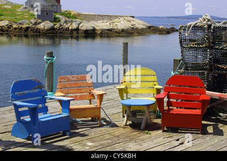 Nova Scotia, Canada - Colorful Painted Wood Patio ...