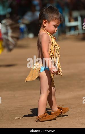 Chumash native American toddler - Stock Photo