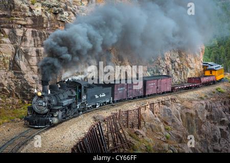 Durango-Silverton Narrow Gauge Railroad - Stock Photo