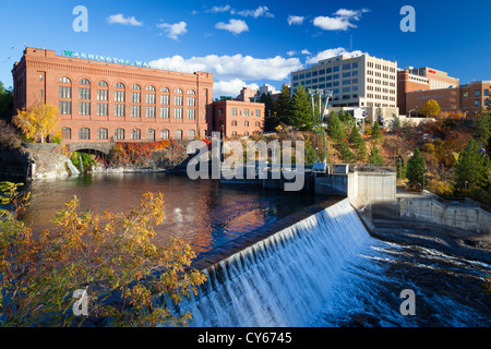 Spokane River in Spokane, Washington - Stock Photo