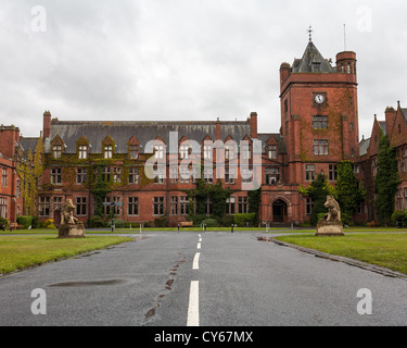 Campbell College School in Belfast, view from the driveway. - Stock Photo