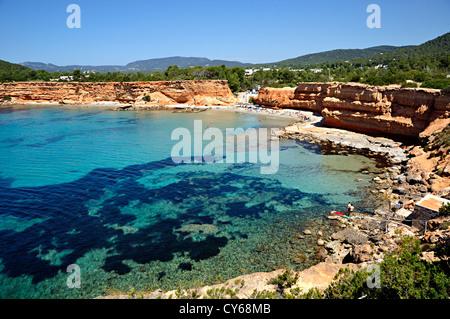Sa Caleta beach . Ibiza, Balearic Islands, Spain - Stock Photo