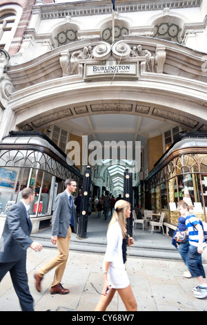 Burlington Arcade, London, England, UK - Stock Photo