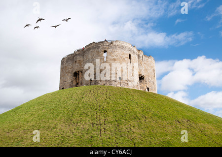 Clifford's Tower, York, UK - Stock Photo