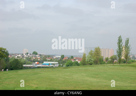 Skyline from Lethamhill golf course in Glasgow, Scotland. Editorial only, 21 May 2010 - Stock Photo