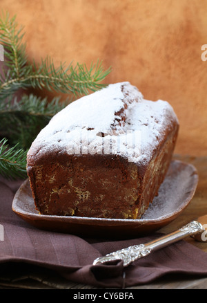 chocolate home made cake  for Christmas - Stock Photo