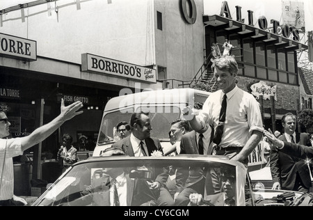 ROBERT F. KENNEDY (1925-1968) campaigning for the Presidency in  San Francisco in 1968