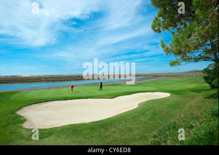 Golf Course, Praia da Quinta do Lago, Algarve, Portugal - Stock Photo