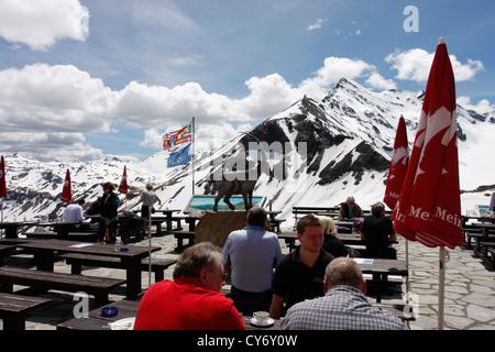 Restaurant view point along the Grossglockner High Alpine Road in Salzburg,Austria. - Stock Photo