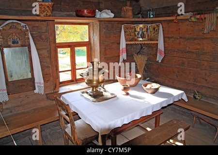 interior in rural wooden house - Stock Photo