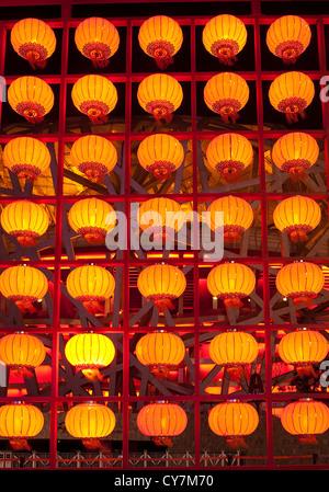 Group lanterns in Chinese new year season,Beijing China - Stock Photo