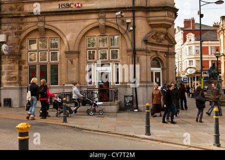 HSBC bank, Stow Hill Bridge Street, Newport, Wales, UK, GB. - Stock Photo