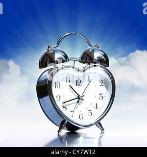 Old alarm clock - Stock Photo