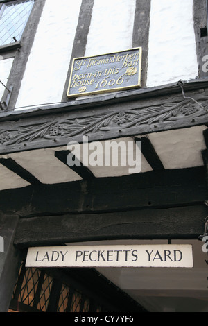 Lady Peckett's Yard, York, North Yorkshire, Yorkshire, England, UK - Stock Photo