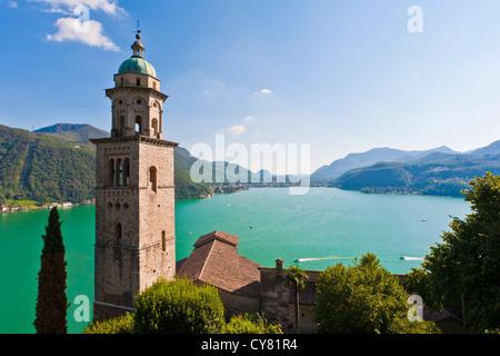 CHURCH SANTA MARIA DEL SASSO, MORCOTE, LAKE OF LUGANO, LAGO DI LUGANO, TICINO, SWITZERLAND - Stock Photo