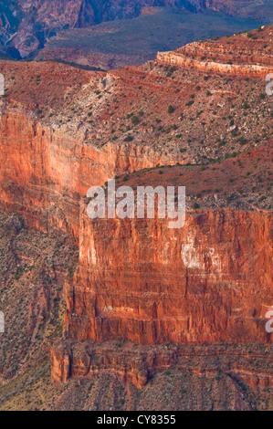 Canyon Detail along the South Rim, Grand Canyon National Park, Arizona - Stock Photo