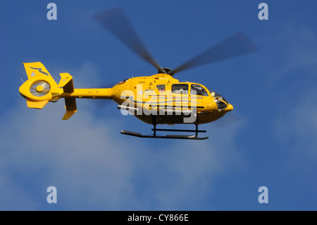 Scottish Ambulance Service helicopter in Glasgow. Eurocopter EC 135 G-SASA 'Helimed 5' - Stock Photo