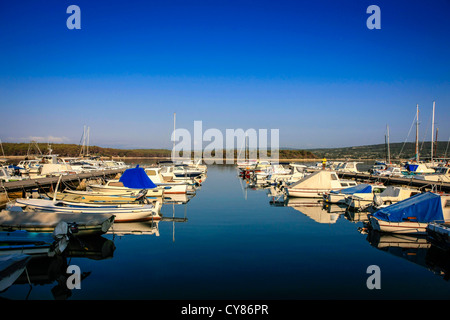 Punat Marina on the Croatian island of Krk - Stock Photo