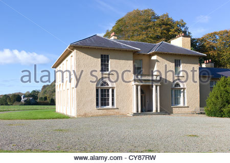 Llanerchaeron Villa, Ceredigion, Wales, UK. One of the finest existing houses designed by John Nash. A grade 1 listed - Stock Photo