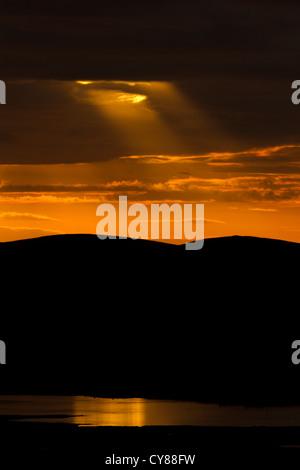 Crepuscular rays - Stock Photo