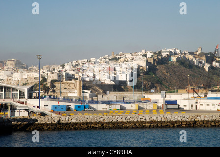 View of the Old Quarter of Tangier, Morocco. Take from the harbour. - Stock Photo