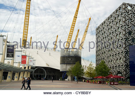 The Millenium Dome, now the O2 Arena in North Greenwich, London - Stock Photo
