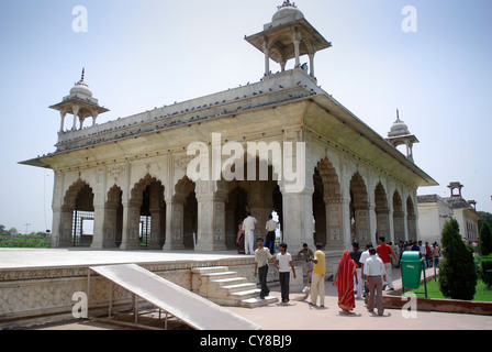 The Rang Mahal inside the Red Fort (Lal Qila) in Old Delhi, Delhi, India - Stock Photo