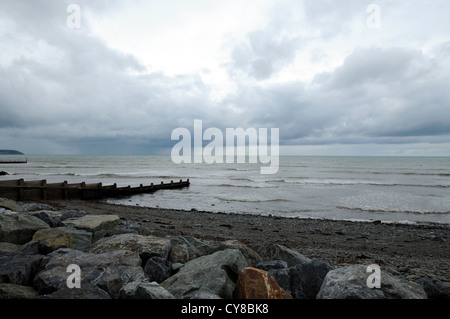 North Beach in Aberaeron,  Ceredigion, Wales, UK - Stock Photo