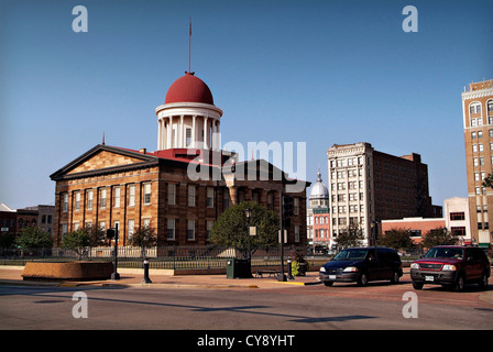 Springfield Illinois USA State Capital and home of the Lincoln Library and Museum.  The Old State Capitol Building. - Stock Photo