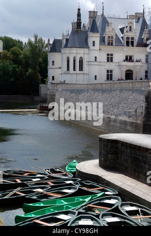 FRANCE Château de Chenonceau is a manor house near the small village of Chenonceaux, Loire Valley. - Stock Photo