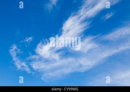 Wispy cloud effect, Oxfordshire, UK - Stock Photo