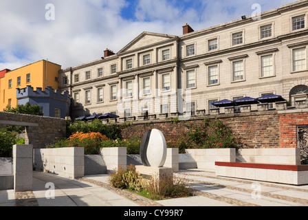 State Apartments of Dublin Castle from the Garda Memorial Garden in Dublin, Republic of Ireland, Eire. - Stock Photo