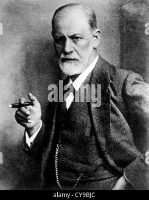 Sigmund Freud (1856-1939), Austrian Psychiatrist, Founder of Psychoanalysis, Circa 1921 - Stock Photo