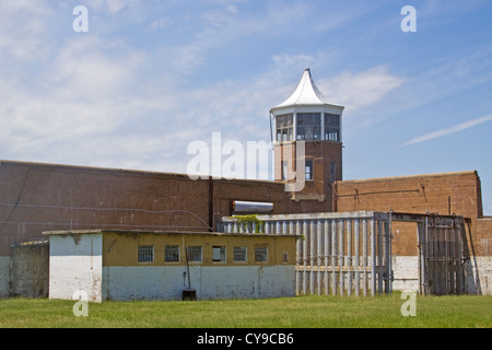 Main Gate and Guard Tower at the former Washington DC Dept. of Corrections Maximum Security Prison facility located - Stock Photo