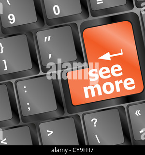 computer keyboard with see more keypad, search concept - Stock Photo