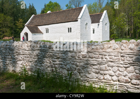 Wales, St. Fagans National History Museum, relocated St.Teilo's Church dates from 1100, rebuilt to circa 1520