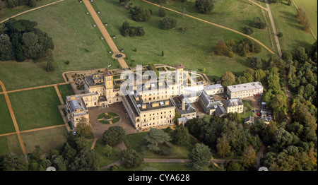aerial view of Osborne House on the Isle of Wight - Stock Photo