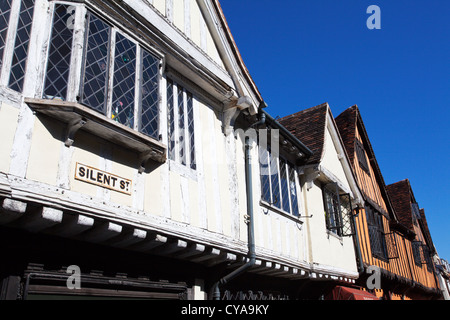 Half Timbered Buildings on Silent Street in Ipswich Suffolk England - Stock Photo