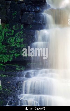 Mill Gill Force near Askrigg Wensleydale North Yorkshire England - Stock Photo