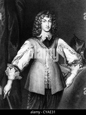 PRINCE RUPERT OF THE RHINE (1619-1682) soldier, artist and scientist son of the German Prince Frederick V, Elector - Stock Photo