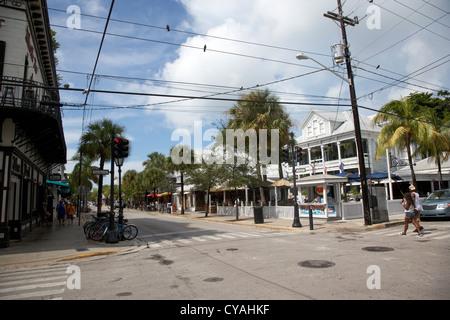 duval street old town key west florida usa - Stock Photo