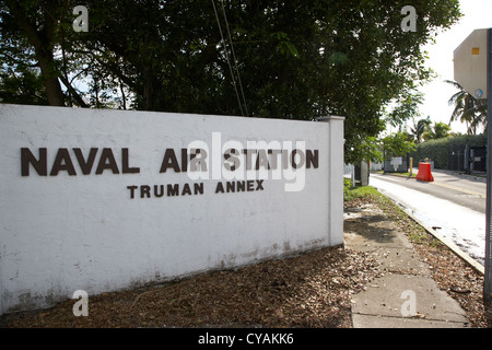 entrance to naval air station truman annex key west florida usa - Stock Photo