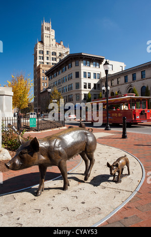 Pack Square - Asheville, North Carolina USA - Stock Photo