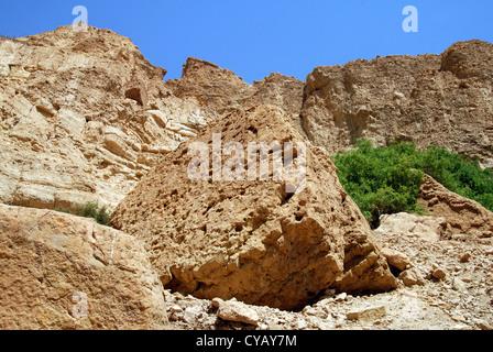 Landscape of the Judean Desert, Israel. - Stock Photo