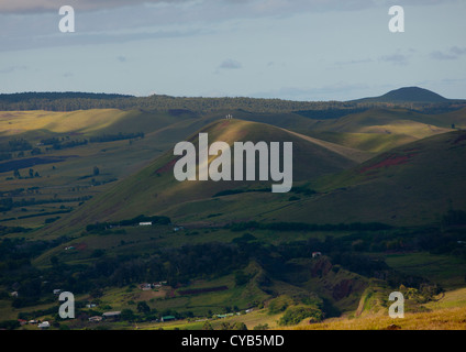 Hills In Easter Island, Chile - Stock Photo