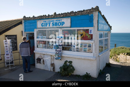 Gift shop Lizard Point, Cornwall, England most southerly point in mainland Britain - Stock Photo