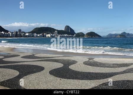 Copacabana beach, Rio de Janeiro - Stock Photo