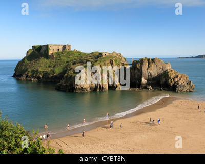 St Catherines Island Tenby Pembrokeshire Wales - Stock Photo
