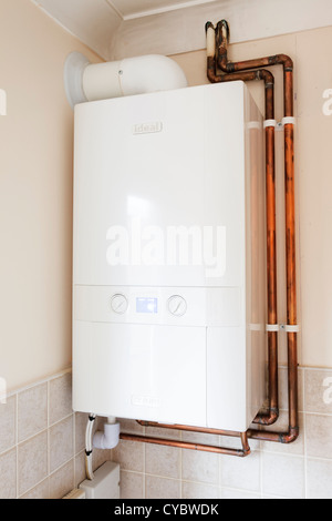 Modern New Gas Central Heating Condensing Boiler In A